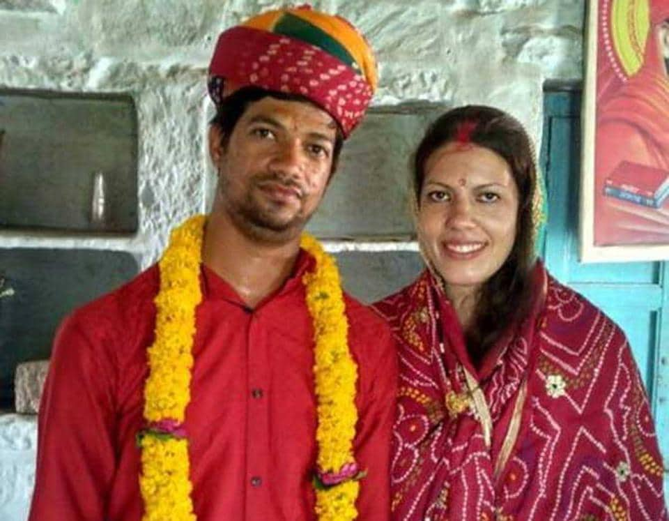 Heloisa Miranda Silva (right)  from Brazil tis waiting to get her marriage to Nitesh Jain, registered from her native country.