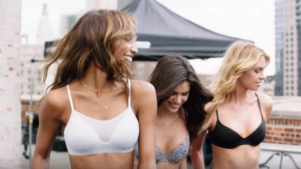 The music video features several Victoria's Secret models lip-syncing to the music.