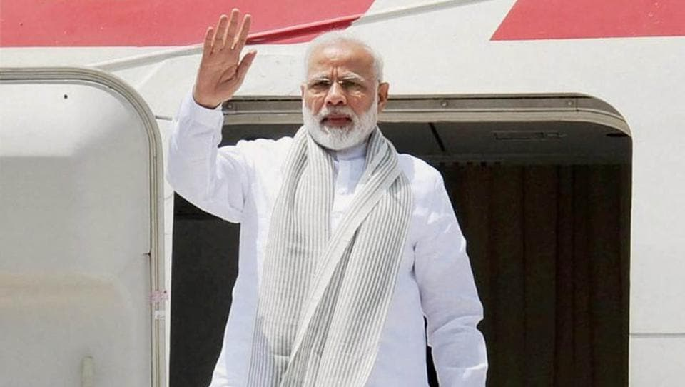 Prime Minister Narendra Modi departs for Astana to attend the Shanghai Cooperation Organisation Summit, in New Delhi on Thursday.