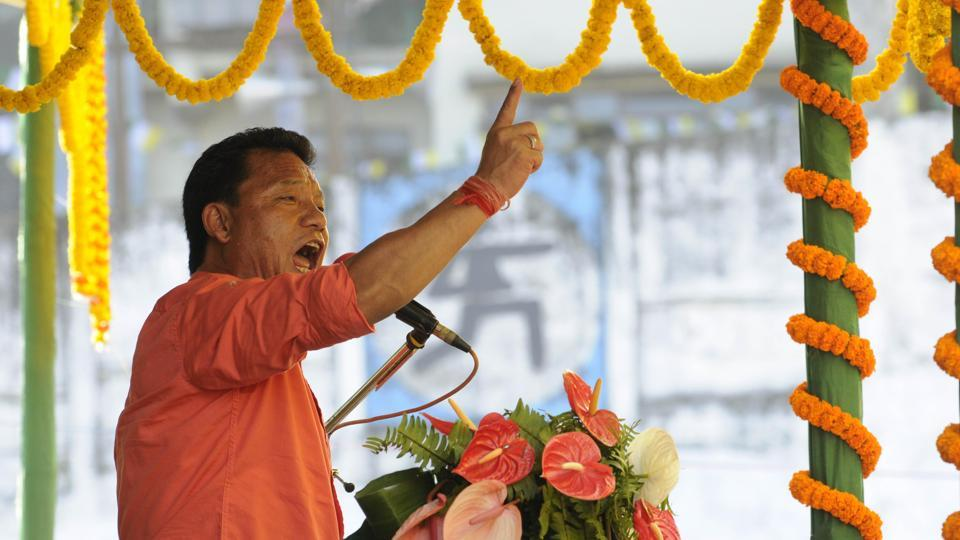 File picture of GJM president Bimal Gurung. After Thursday's violence he has decided to push for Gorkhaland with renewed vigour.