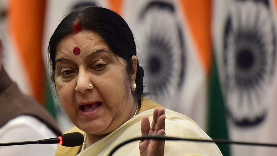 Indian shot at in US out of danger: Sushma