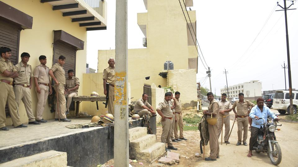 Police are camping Bamheta village, near NH-24, in Ghaziabad on Friday to prevent in any escalation in tension.