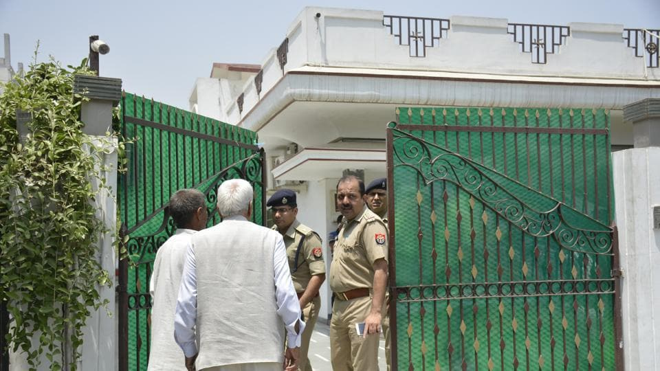 IPS officer Sanjeev Tyagi's father, Ishwar Tyagi, was murdered at his home onMay 11, allegedly by one of his sons, who suffers from schizophrenia and is now absconding.