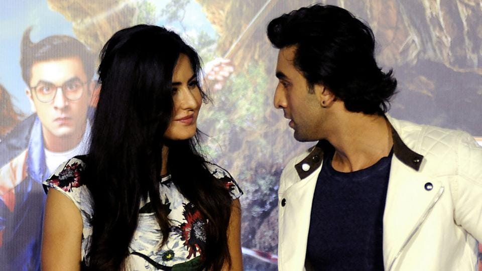 Katrina Kaif and Ranbir Kapoor attend the song launch event for Jagga Jasoos.