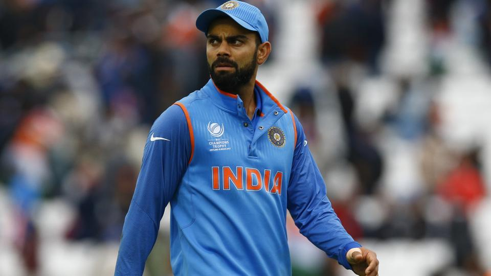Indian cricket team skipper Virat Kohli looks dejected after the ICC Champions Trophy match against Sri Lanka cricket team at The Oval on Thursday.