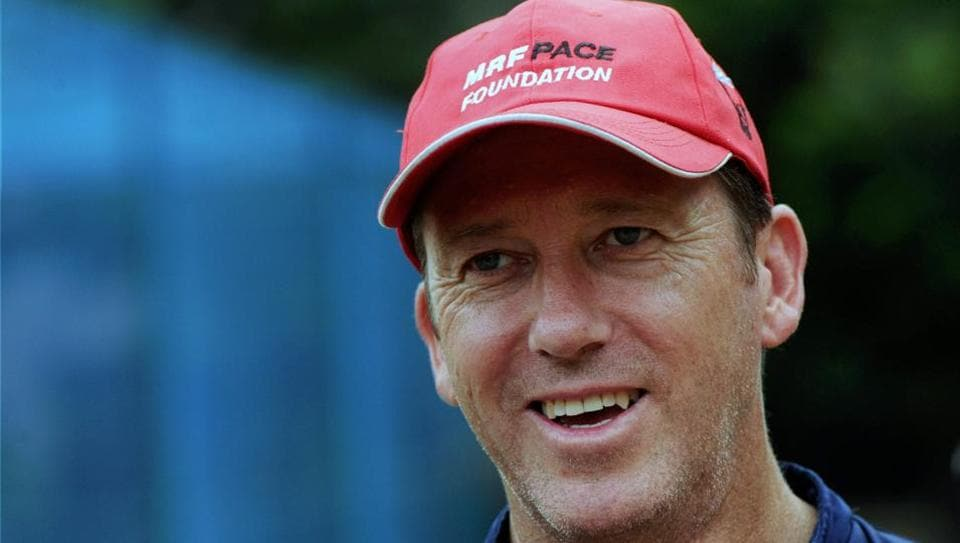 Chennai: Former Australia cricketer Glenn McGrath during his interaction with PTI at MRF Pace Academy in Chennai.