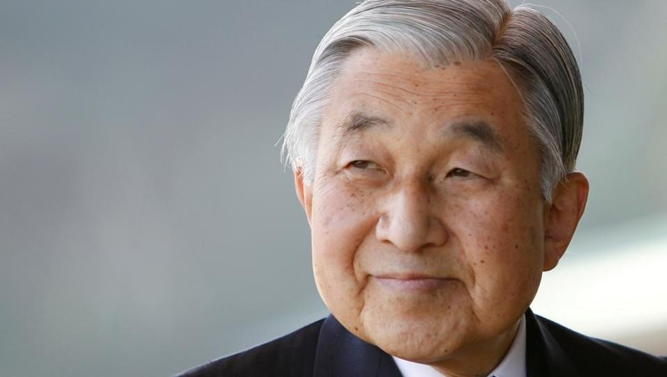 Japan's Emperor Akihito smiles at the Imperial Palace in Tokyo February 23, 2011.
