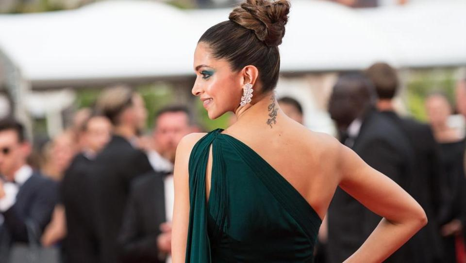 Deepika Padukone poses on the red carpet for the screening of the film Loveless in competition at the 70th Cannes International Film Festival in Cannes, France, on May 18, 2017.