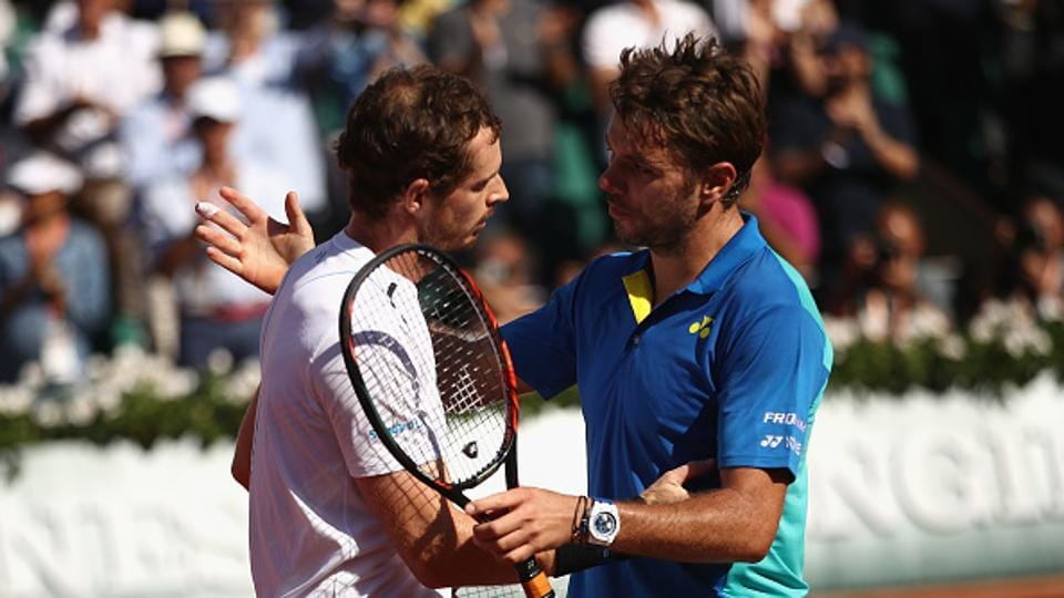Stan Wawrinka registered an epic 6-7 (6/8), 6-3, 5-7, 7-6 (7/3), 6-1 win over World No. 1 Andy Murray to reach the French Open final.  (Getty Images)