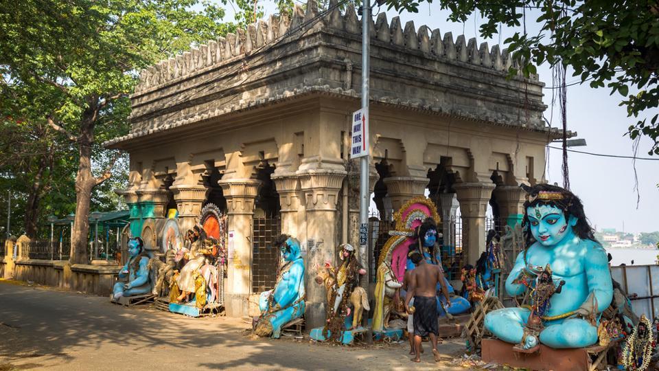 Kumartuli, in Northern Kolkata, where different idols of gods and goddess are created.