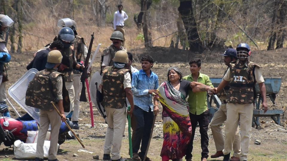 Farmer agitation,Bhopal,Police