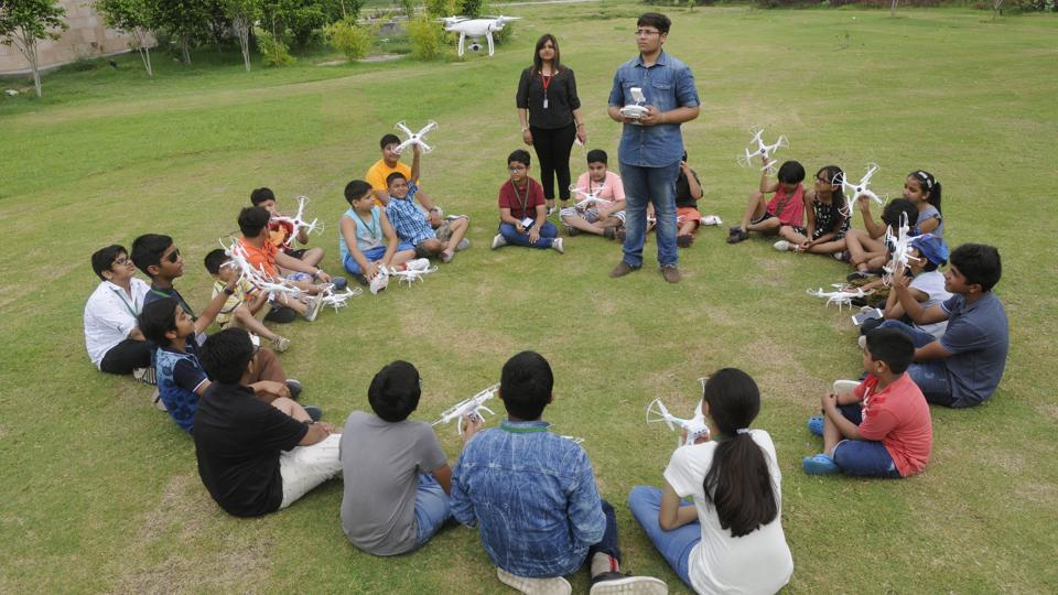 First-hand knowledge on how to fly drones as part of a summer camp.