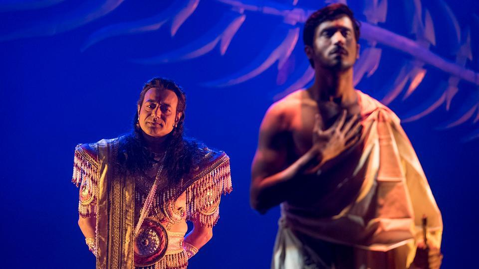 The play tells the story of Arjuna's warrior son Abhimanyu. (Satish Bate/HT)