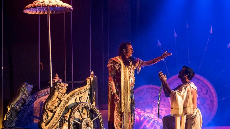 The adaptation explores humanity trapped in its own chakravyuh (a circular maze) of existential anxieties. (Satish Bate/HT)