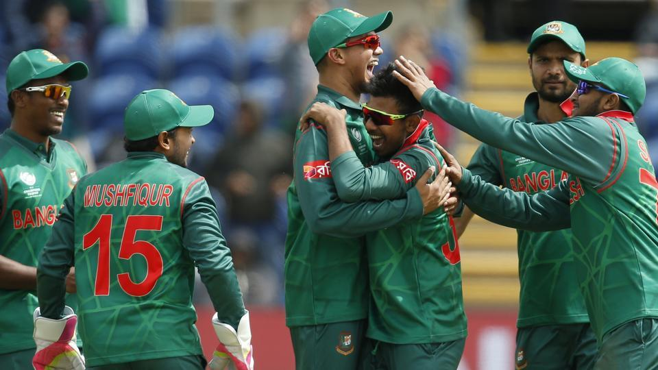 Mosaddek Hossain bagged three key wickets in just three overs to give Bangladesh a fighting chance of a win. (REUTERS)