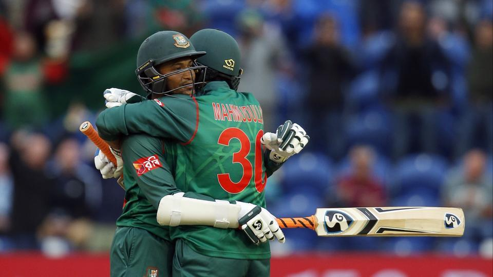 Mahmudullah remained unbeaten on 102 as Bangladesh sealed a five-wicket win. They will need anything other than a win for Australia in their match against England in Saturday's final Group A game to make it to the semifinals. (REUTERS)