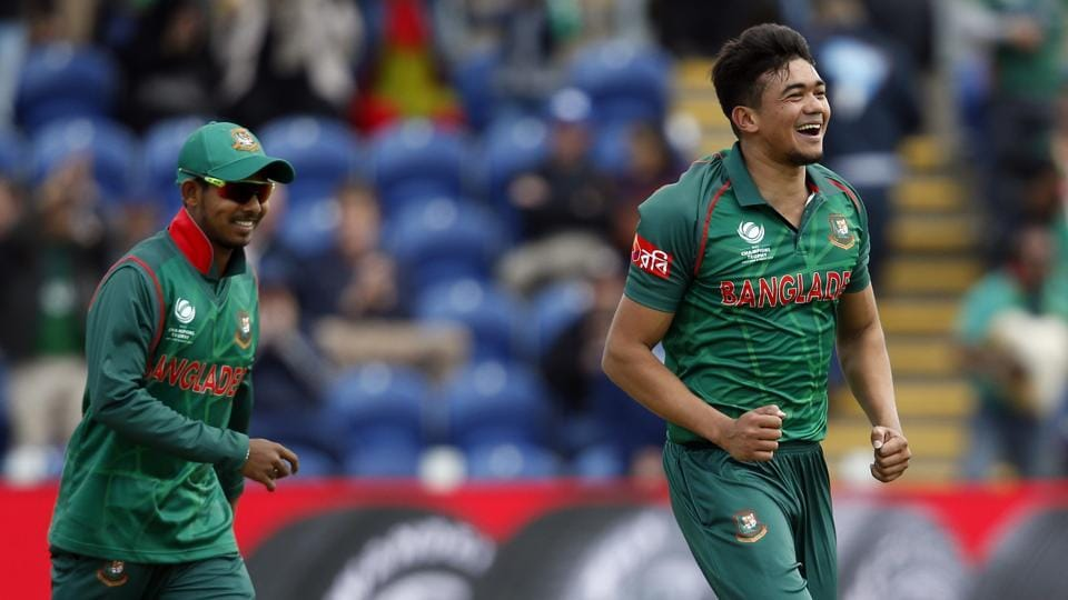 Taskin Ahmed picked two wickets for Bangladesh, including that of Ross Taylor. (REUTERS)