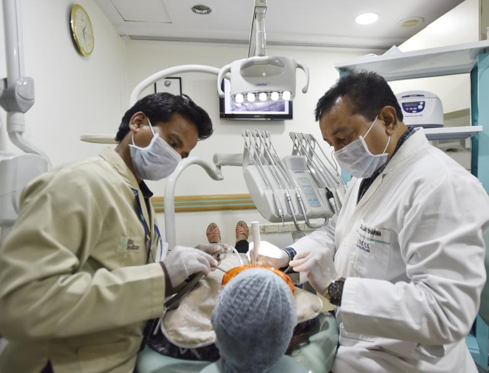 Dr Ajay Sharma, head of dental sciences at New Delhi's Max Smart Super Specialty Hospital, is one of the many doctors who use equipment that are digitally driven for dental procedures.