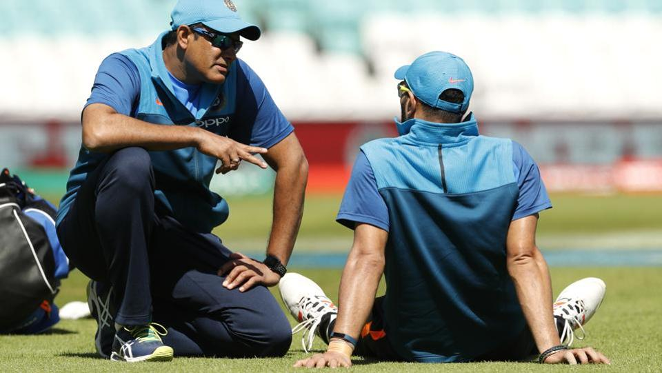India coach Anil Kumble during nets, his game-plan and experience will be crucial for India against South Africa . (REUTERS)