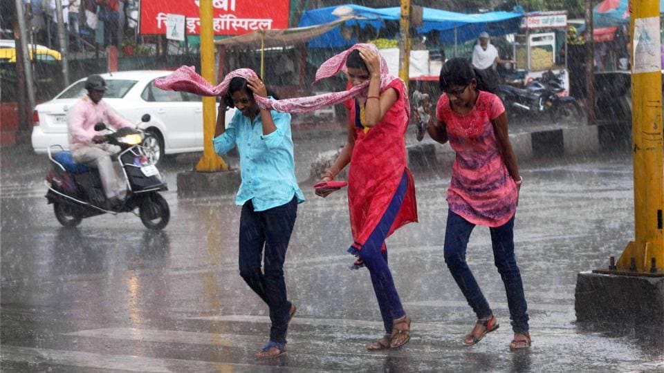 Low-lying areas in some cities experienced water-logging as gutters and storm water drains were flooded in a short time and water gushed out onto the streets.