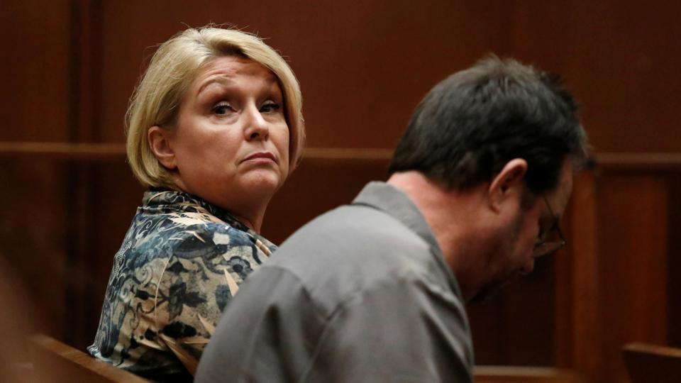 Samantha Geimer waits in court to deliver a statement in the 40 year-old case against filmmaker Roman Polanski in Los Angeles, California, on June 9, 2017.