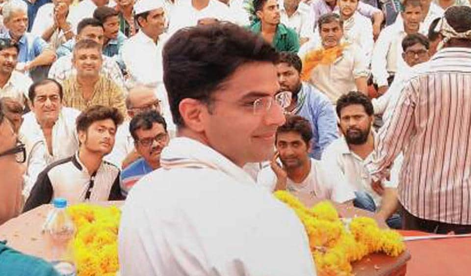 Congress leader and former union minister Sachin Pilot .