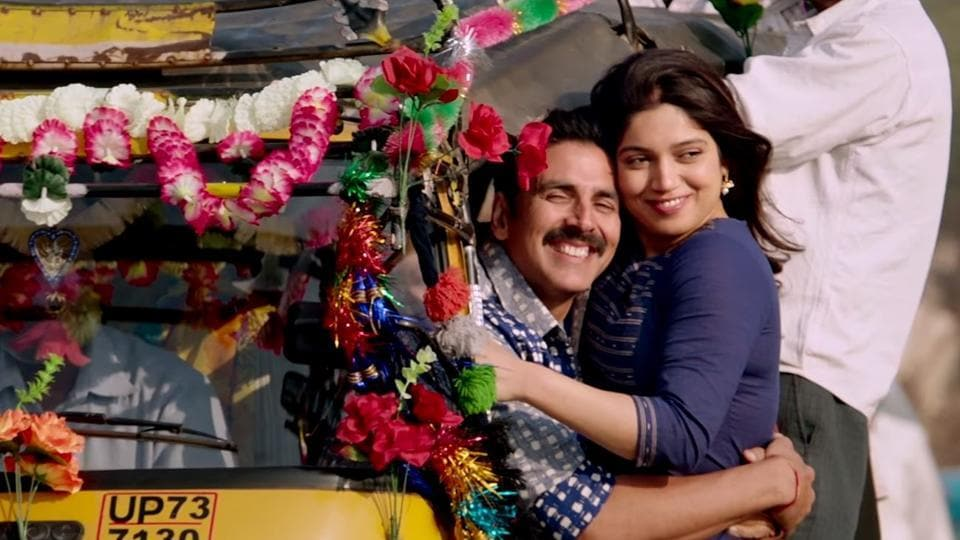 Akshay Kumar is Keshav and Bhumi Pednekar is Jaya in Toilet Ek Prem Katha.