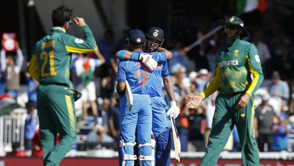 India rode on fifties from Virat Kohli and Shikhar Dhawan to book their ICC Champions Trophy semi-final spot with an eight-wicket win over South Africa at The Oval.  (Twitter )