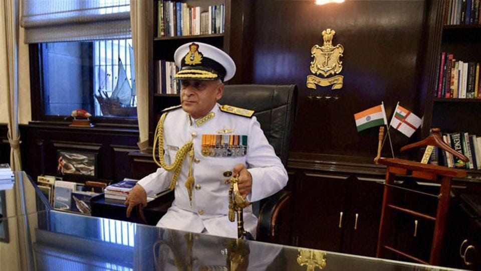Navy Chief Lanba heads to Israel ahead of PM's visit