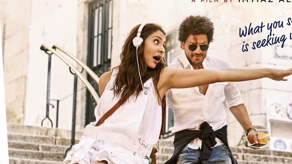Anushka Sharma and Shah Rukh Khan on the poster of Jab Harry Met Sejal.