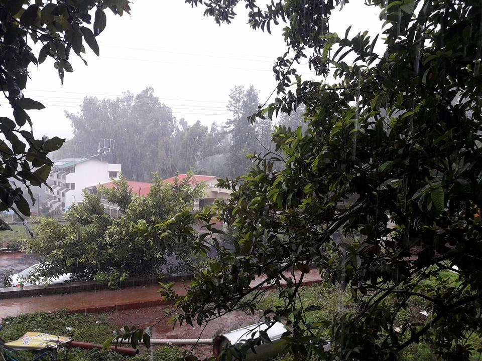 Two days after the arrival of monsoon in konkan, it has now showered over the parts of Mahabaleshwar and Kolhapur.