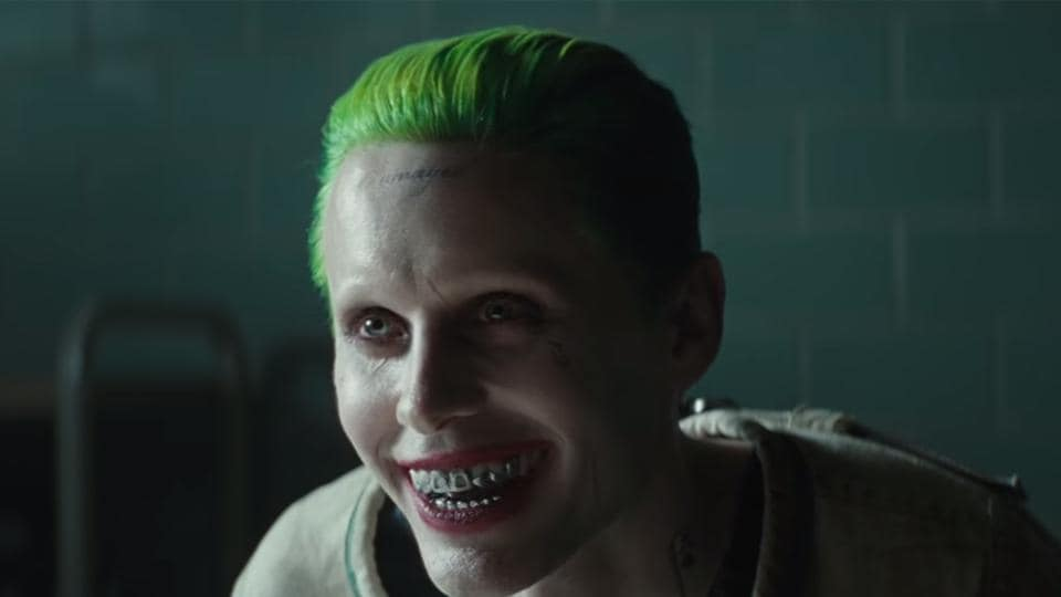 Jared Leto as the Joker in Suicide Sqaud.