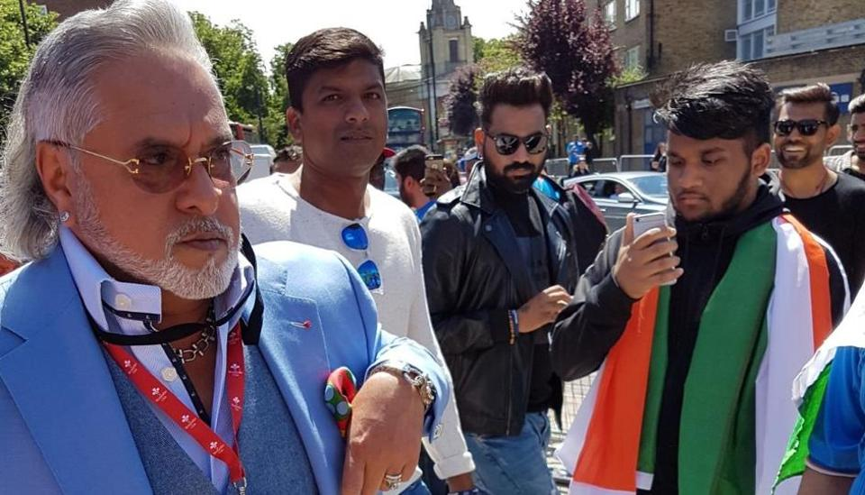 Vijay Mallya gets heckled by fans as he arrives at The Oval in London for the Indian cricket team vs South Africa cricket team ICC Champions Trophy match on Sunday.