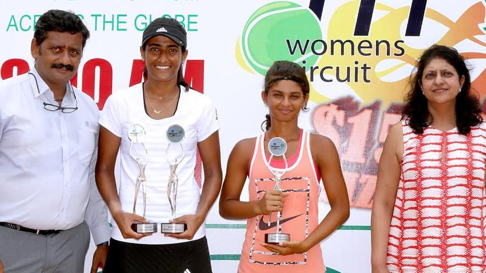 Rutuja Bhosale, who was playing for Texas A&M in US College tennis, was given a wildcard entry and she justified the decision by winning the trophy.