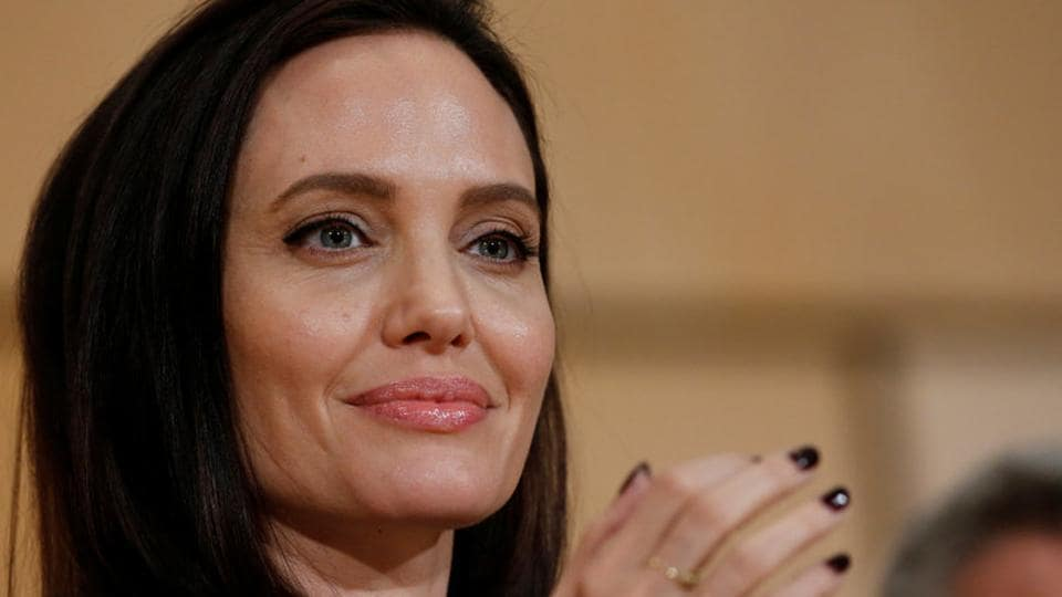 Angelina Jolie attends a conference at the United Nations in Geneva.