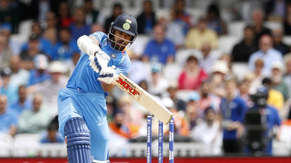 Shikhar Dhawan in action during the ICC Champions Trophy match between India and South Africa at The Oval. Catch full cricket score of India vs South Africa here