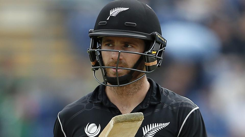 New Zealand's Kane Williamson looks dejected after losing his wicket against Bangladesh during the ICC Champions Trophy.