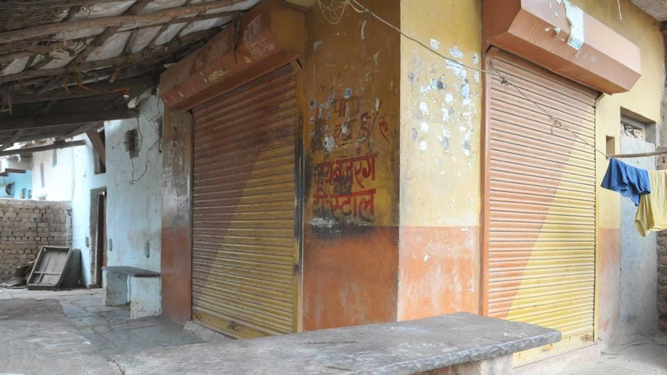 Streets were deserted and shops shut in violence-hit Mandsaur's Bahi Parsavnath village on Saturday. Fear of police, who picked up three men, prevailed in the village, creating a curfew-like situation.