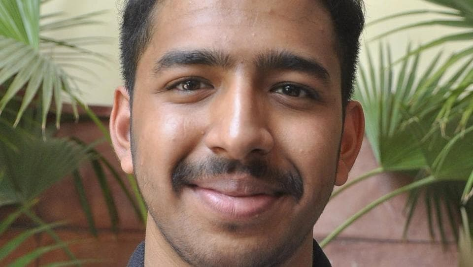 Manthan Jindal secured the All India Rank (AIR) 32 in Joint Entrance Examination (JEE) Advanced 2017. (Keshav Singh/HT Photo)
