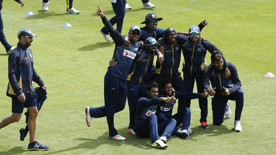 Sri Lanka cricket team players seemed a relaxed bunch during training on Sunday, on the eve of their crucial ICCChampions Trophy match against Pakistan Cricket team in Cardiff.