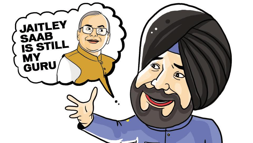 """""""(Arun) Jaitley saab is still my guru,"""" said Punjab local bodies minister Punjab Navjot Singh Sidhu told reporters the other day. Reminiscing about his association with the Union finance minister during his BJP days."""