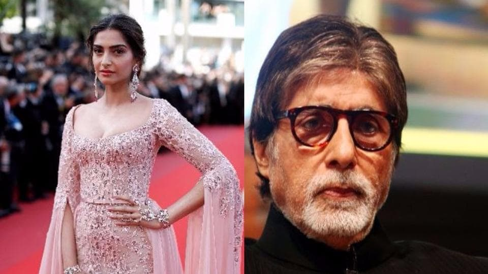 Actor Amitabh Bachchan tweeted that Sonam Kapoor did not reply to his SMS.