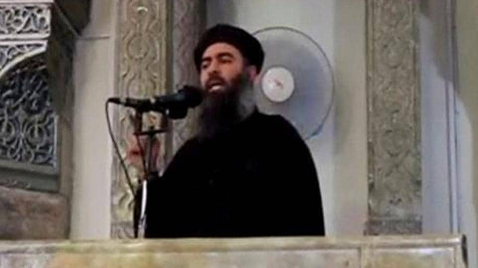 A man purported to be the reclusive leader of the militant Islamic State Abu Bakr al-Baghdadi making what would have been his first public appearance, at a mosque in the centre of Iraq's second city, Mosul.