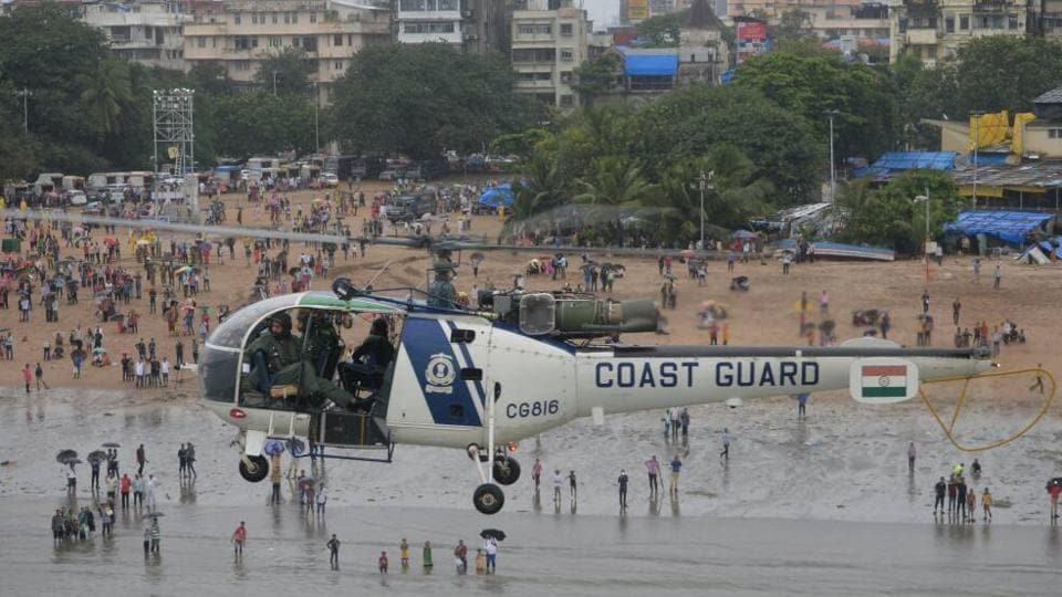 The Coast Guard team also rescued a man who had jumped in to  save the drowning person.