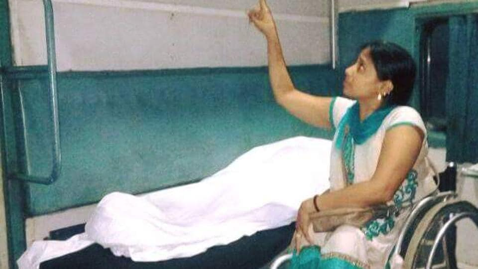 Para-athlete Suvarna Raj was given an upper berth despite her requesting for a lower one.