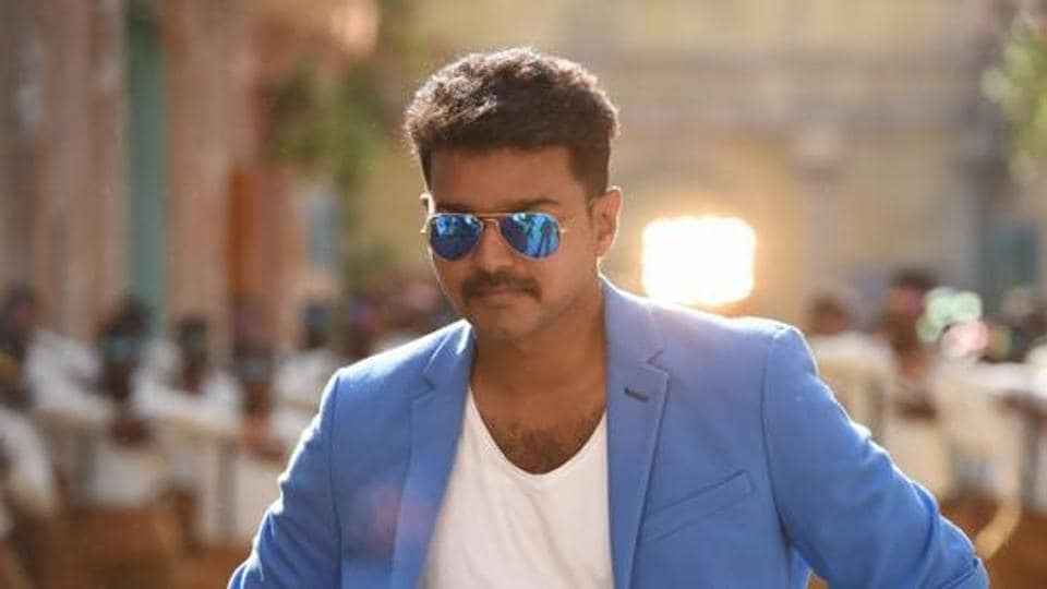 Actor Vijay in a still from his hit film Theri, which released in 2016.