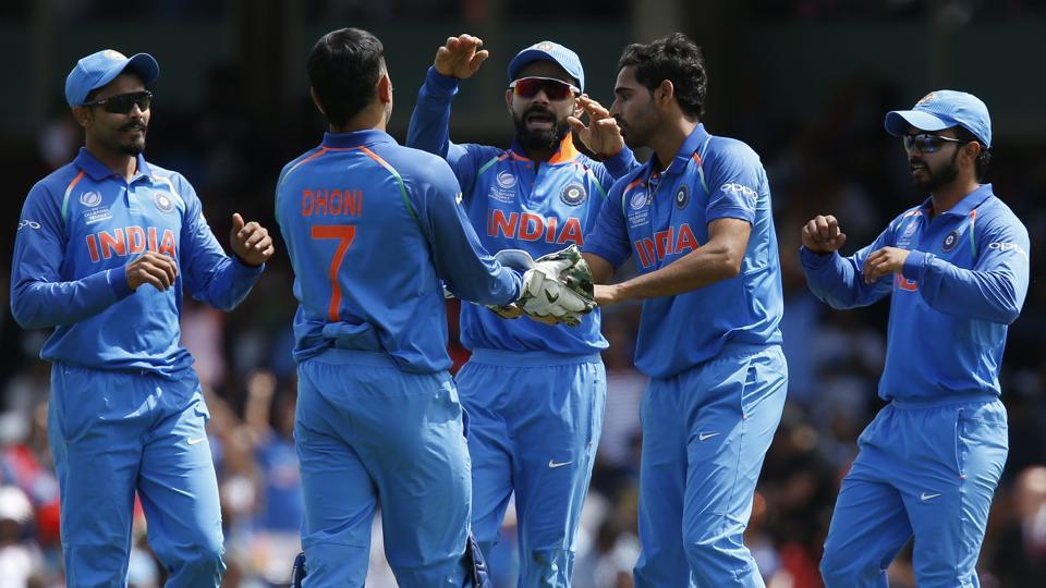 Bhuvneshwar Kumar, Jasprit Bumrah took two wickets each for India against South Africa in an ICC Champions Trophy 2017 match.