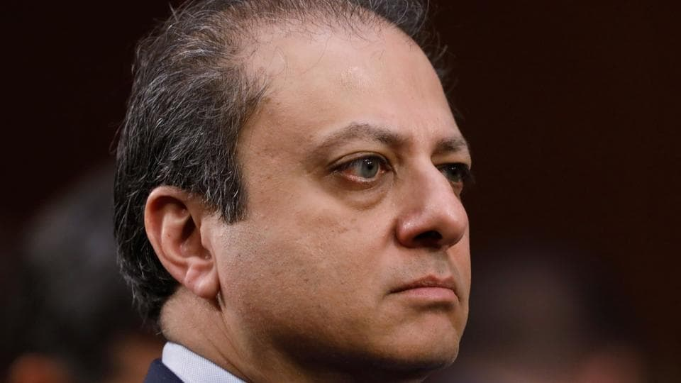 Former US attorney Preet Bharara listens during former FBI director James Comey's appearance before a Senate Intelligence Committee hearing on Russia's alleged interference in the 2016 US presidential election on Capitol Hill in Washington, US, June 8, 2017.