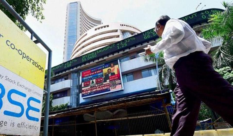 BSE Sensex plunged 156 points on Monday on weak Asian cues.