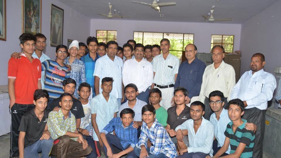 The Class 12 students of JNVBundi.